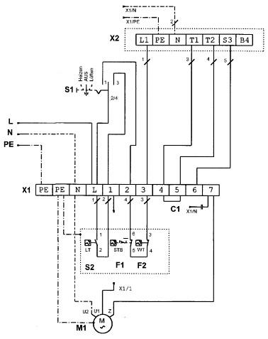 принципиальная схема обогревателя