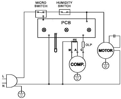 Электрическая схема осушителя