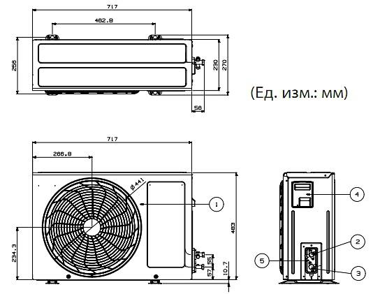 Размеры кондиционеров LG серии