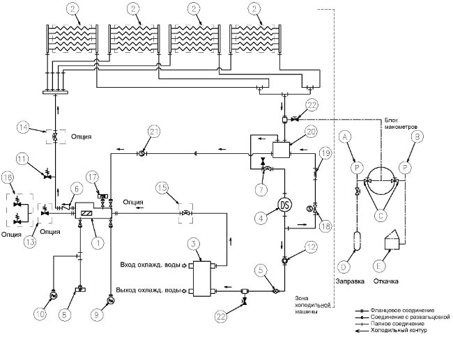 Схема холодильного контура